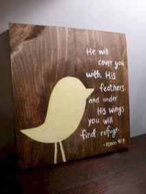 48 rustic wood sign ideas with motivation quotes (43)