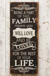 48 rustic wood sign ideas with motivation quotes (5)