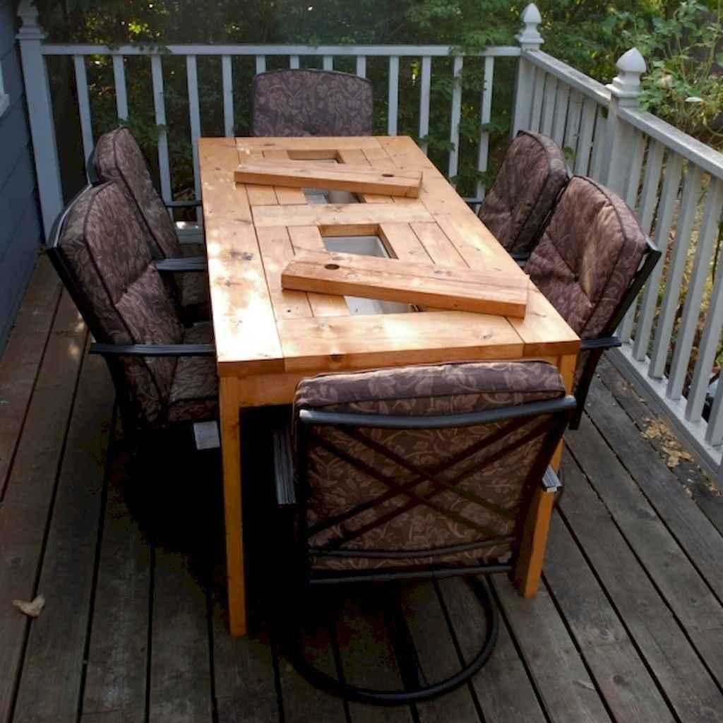 55 rustic outdoor patio table design ideas diy on a budget (2)