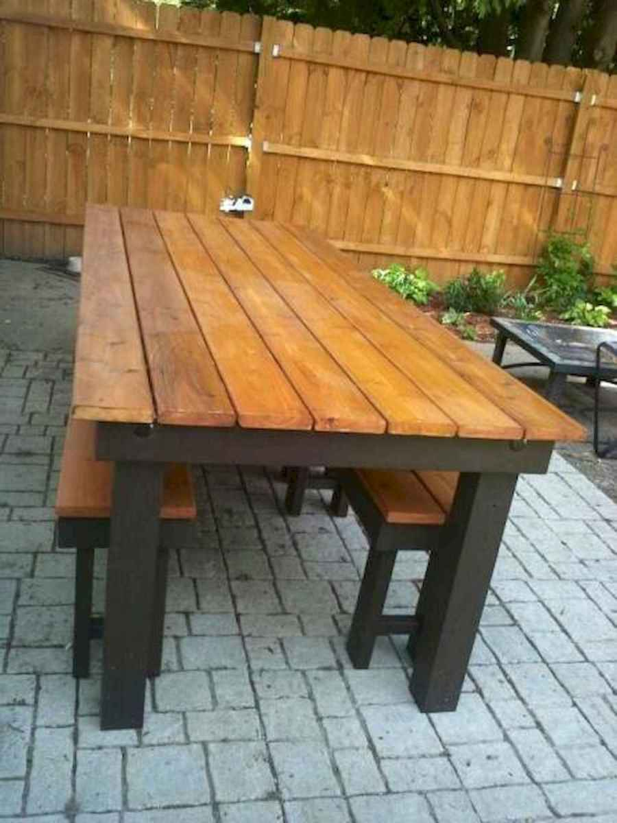 55 rustic outdoor patio table design ideas diy on a budget (20)