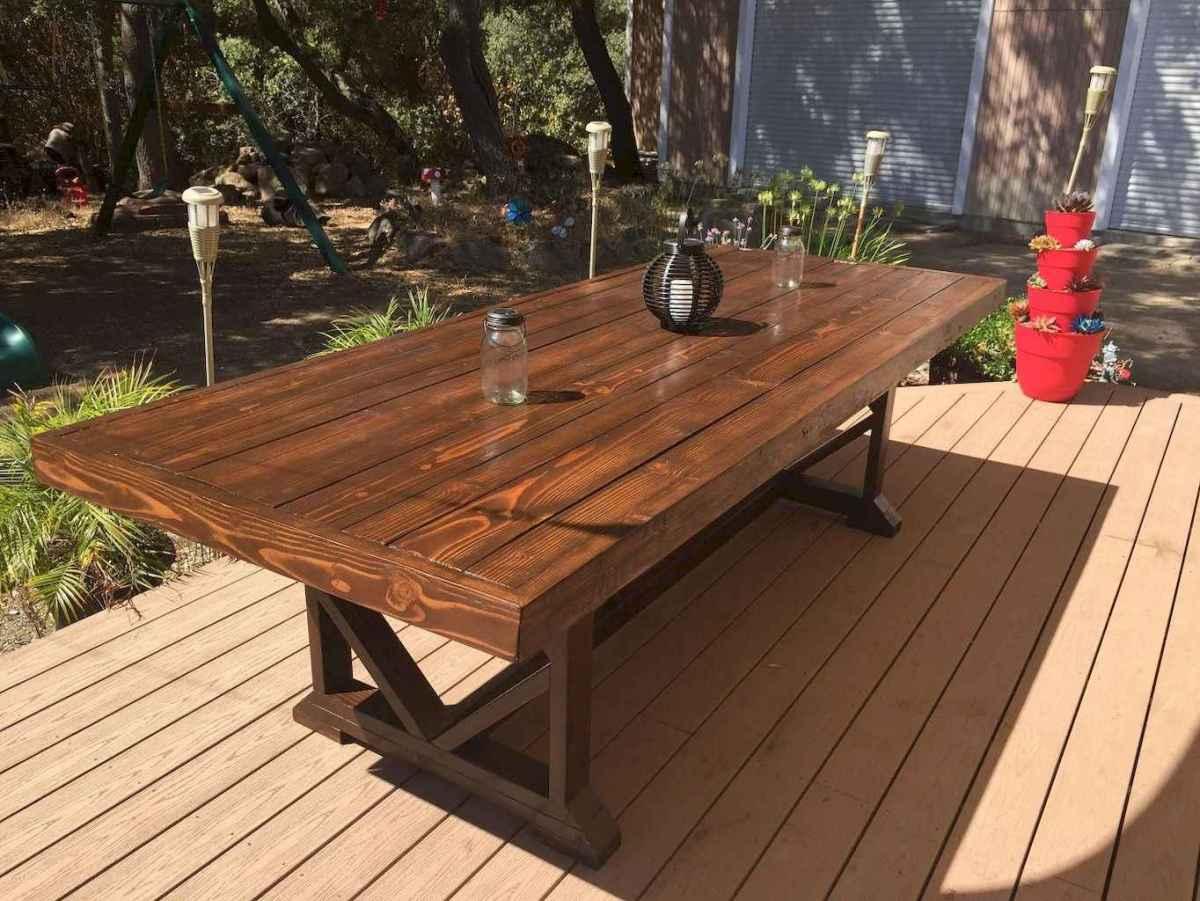 55 rustic outdoor patio table design ideas diy on a budget (36)