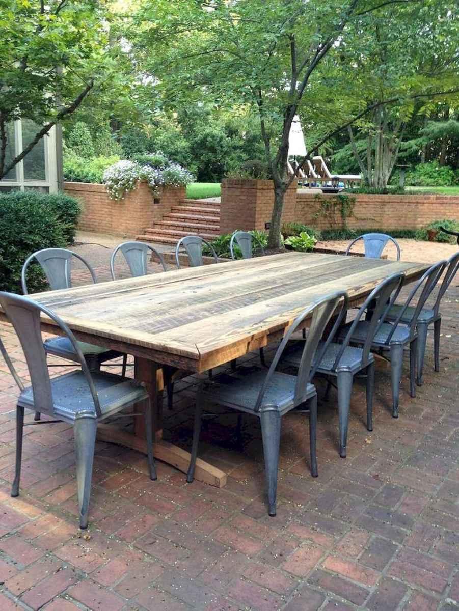55 rustic outdoor patio table design ideas diy on a budget (40)