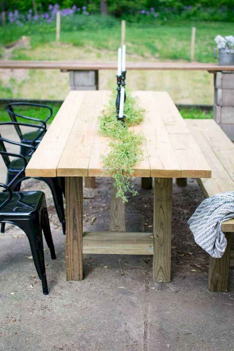 55 rustic outdoor patio table design ideas diy on a budget (48)