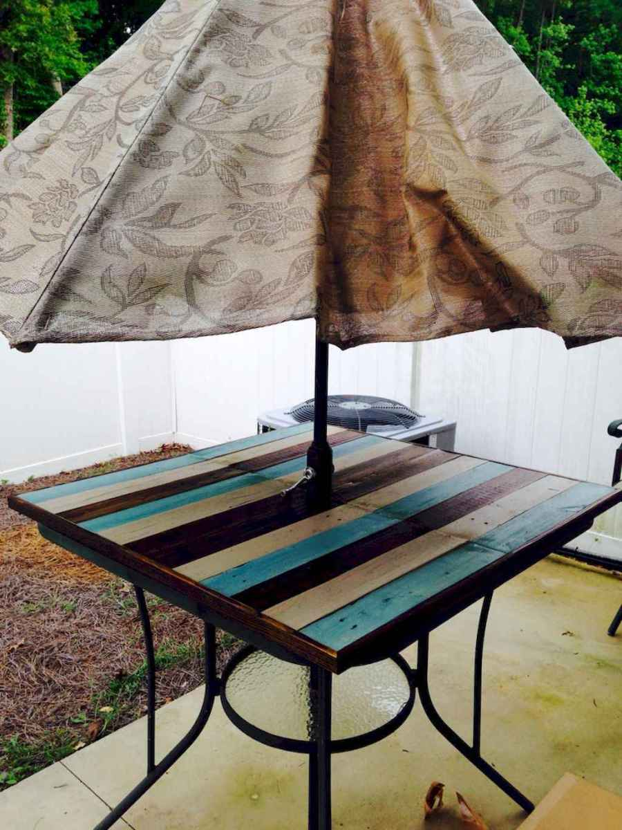 55 rustic outdoor patio table design ideas diy on a budget (7)