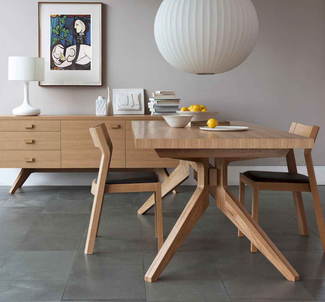 55 simple diy wooden dining table ideas that will inspire you (28)