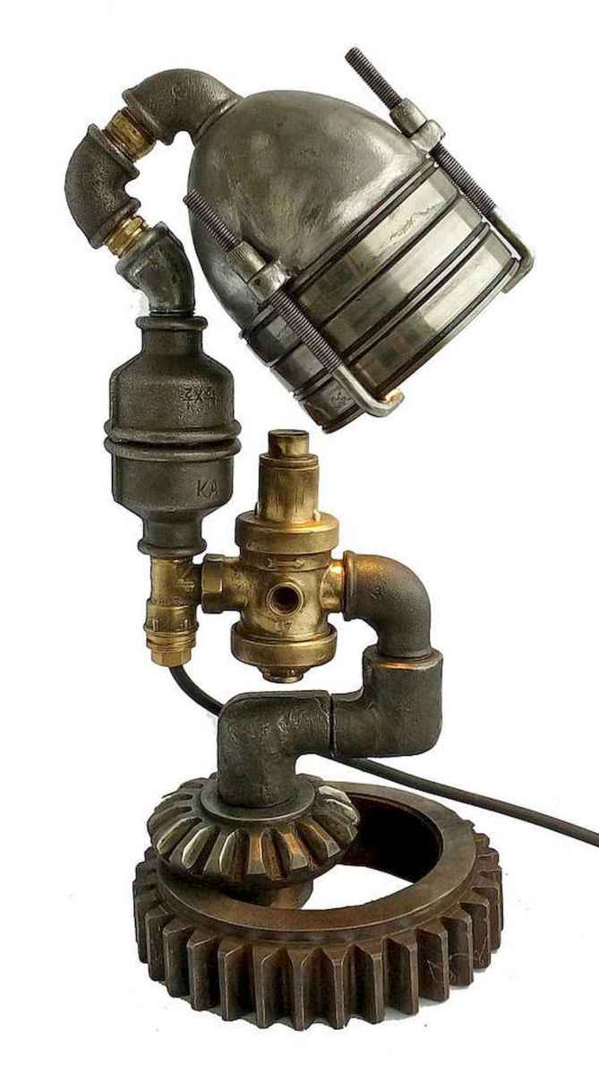 70 cheap diy industrial pipe lamps ideas to decor your home (1)