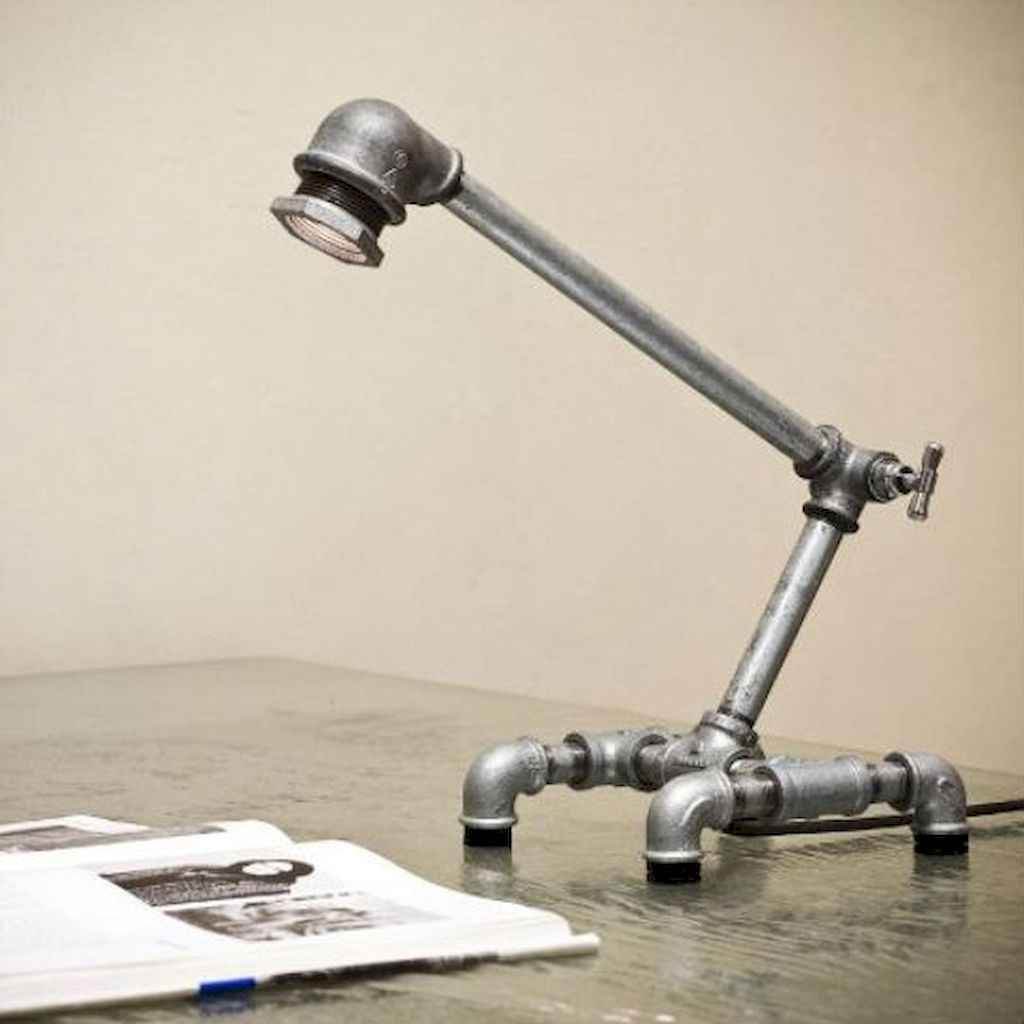 70 cheap diy industrial pipe lamps ideas to decor your home (12)