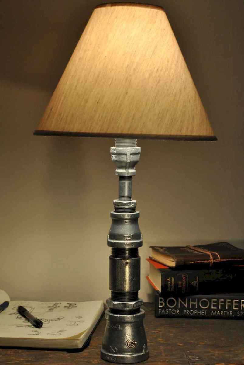 70 cheap diy industrial pipe lamps ideas to decor your home (14)