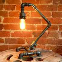 70 cheap diy industrial pipe lamps ideas to decor your home (17)