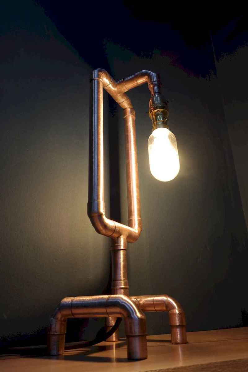 70 cheap diy industrial pipe lamps ideas to decor your home (43)