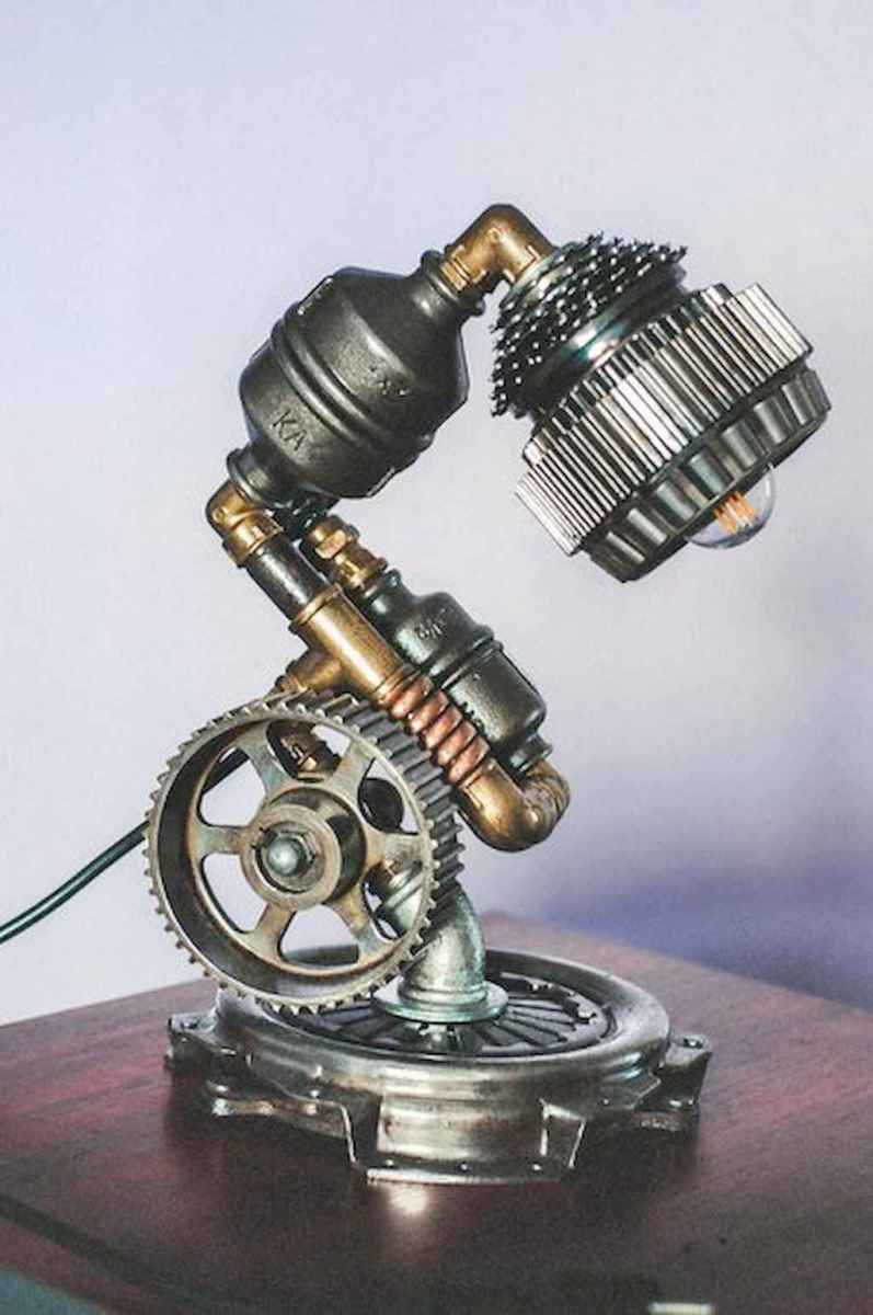 70 cheap diy industrial pipe lamps ideas to decor your home (46)
