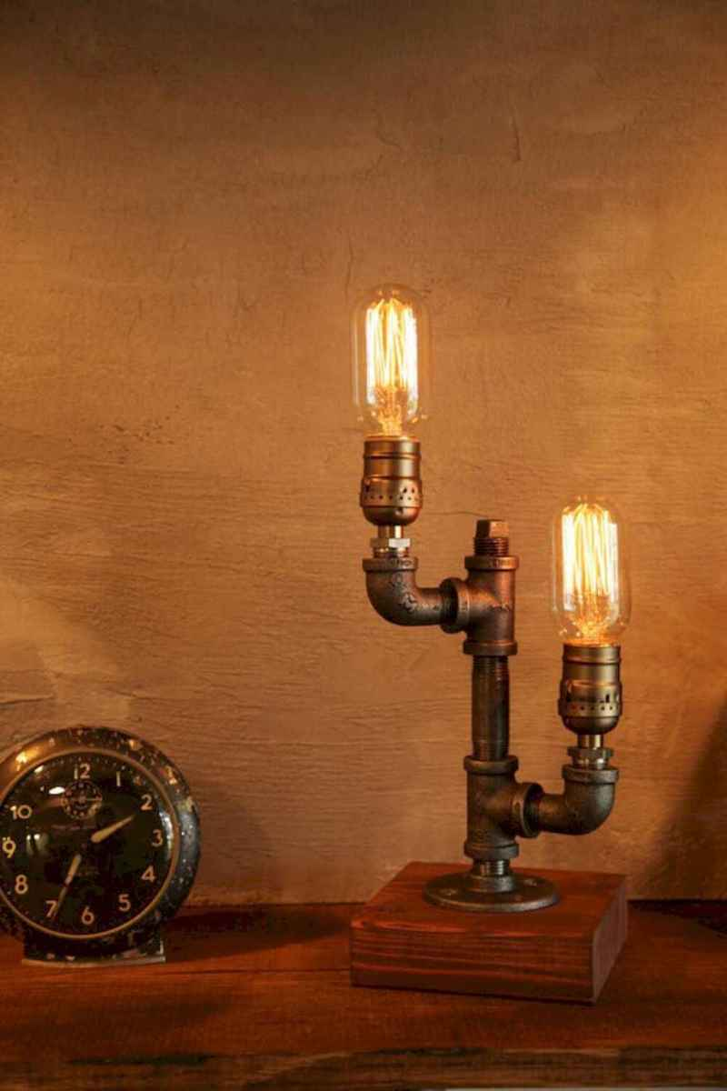 70 cheap diy industrial pipe lamps ideas to decor your home (48)