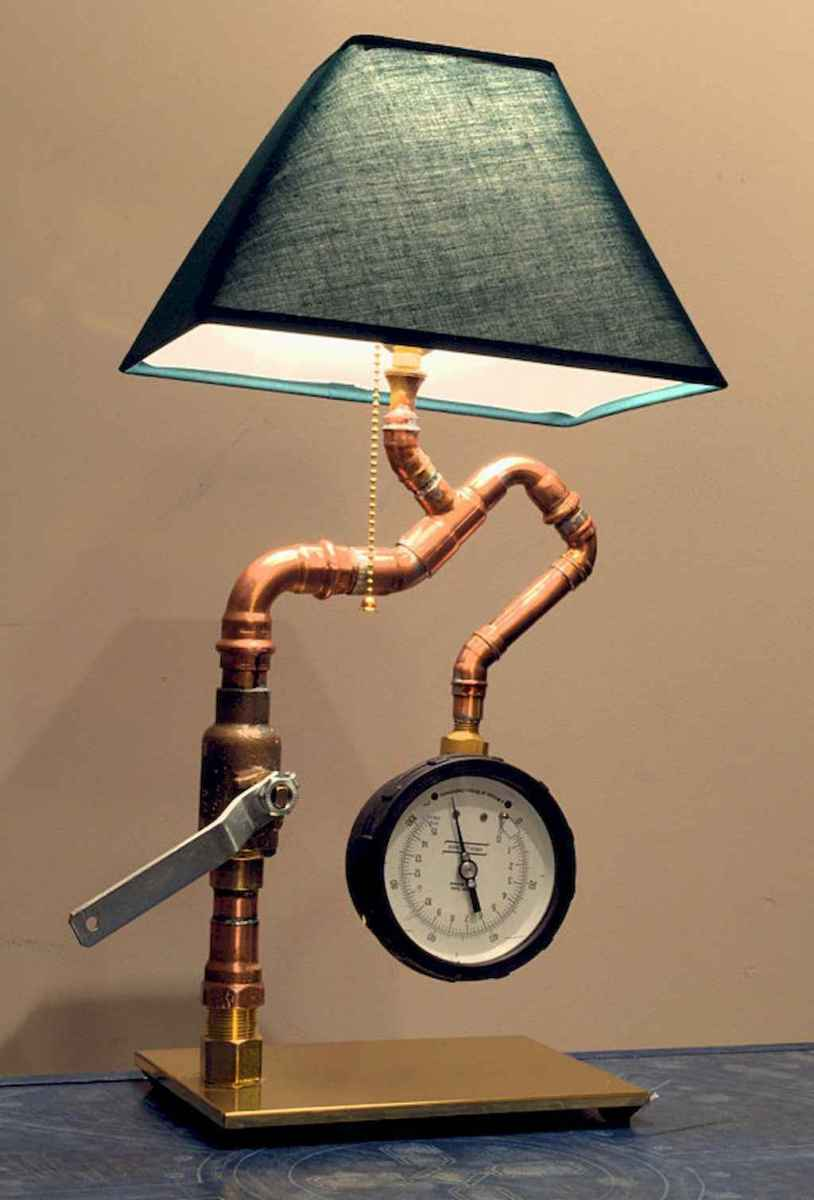 70 cheap diy industrial pipe lamps ideas to decor your home (53)