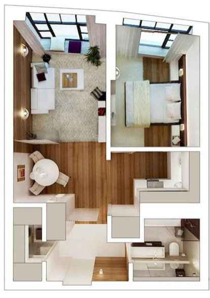 Best small apartment living room layout ideas (36)
