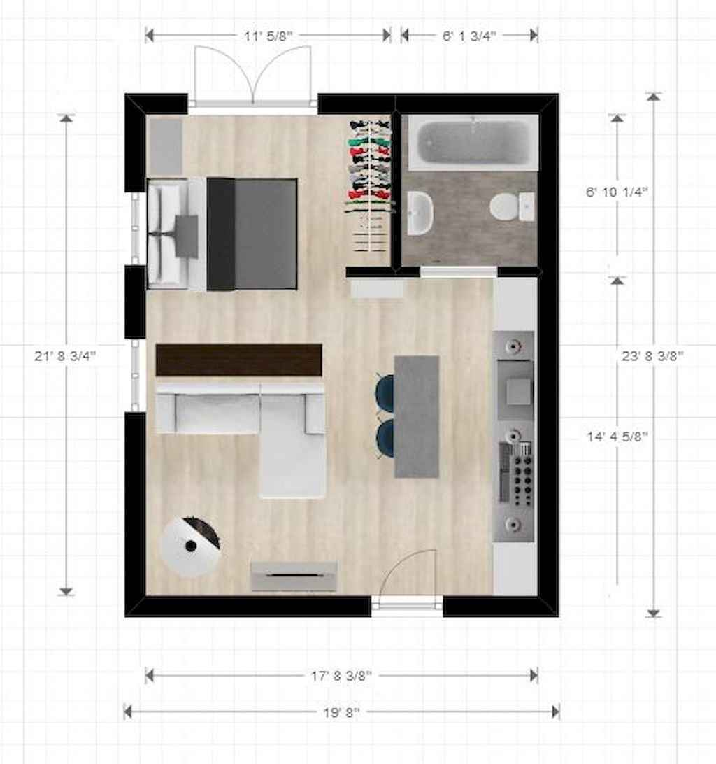 Best small apartment living room layout ideas (47)