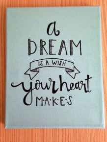 Best wall decoration canvas painting ideas with inspirational quotes (13)