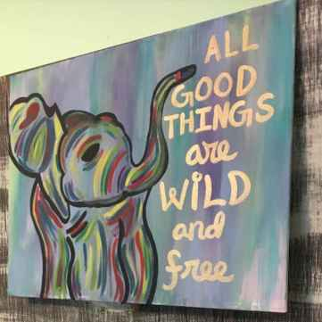 Best wall decoration canvas painting ideas with inspirational quotes (25)
