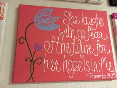 Best wall decoration canvas painting ideas with inspirational quotes (28)