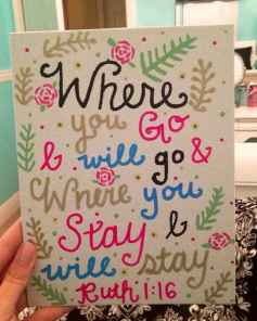 Best wall decoration canvas painting ideas with inspirational quotes (29)