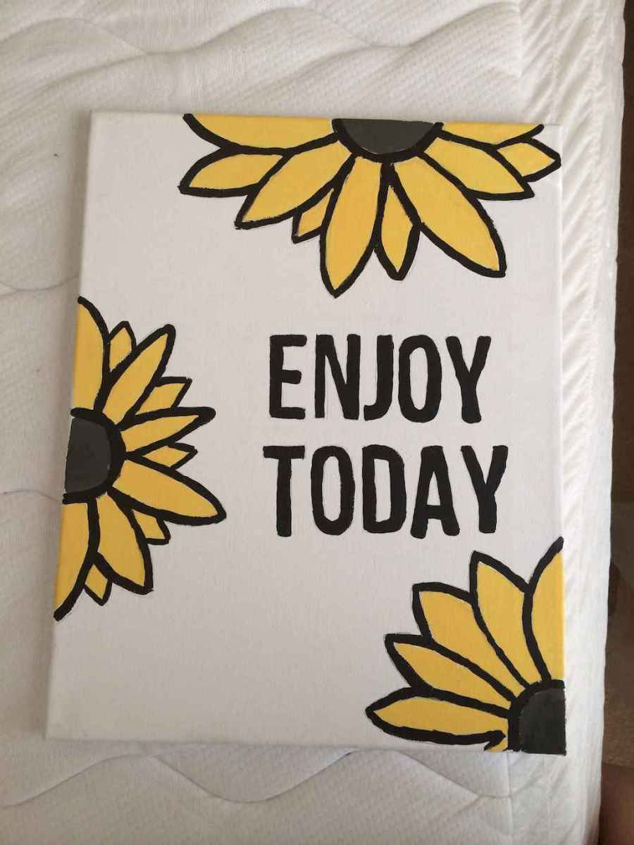 Best wall decoration canvas painting ideas with inspirational quotes (3)