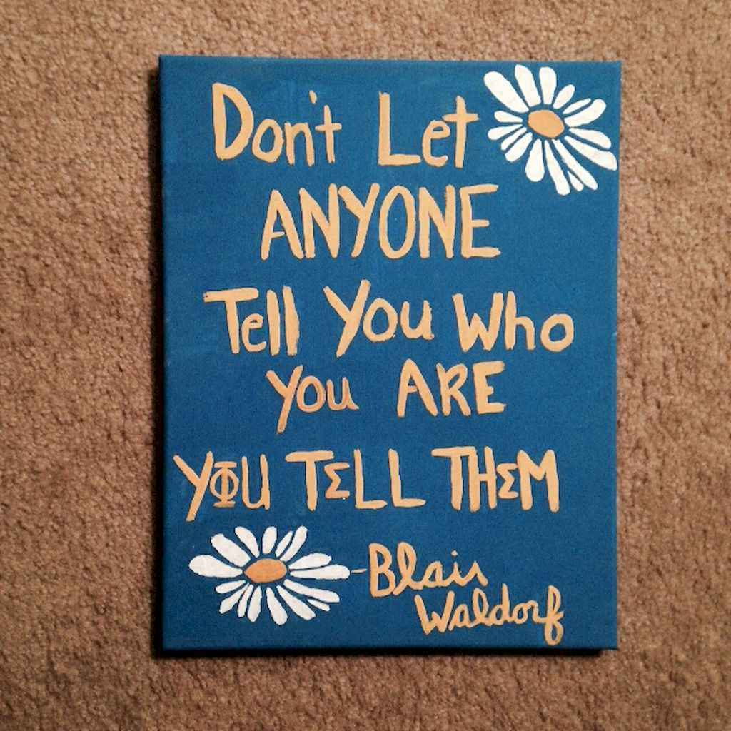 Best wall decoration canvas painting ideas with inspirational quotes (40)