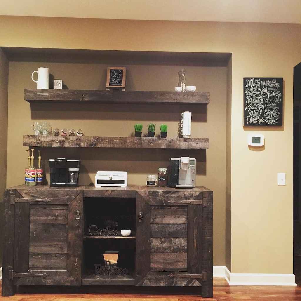 Diy home coffee bar ideas for coffee addict (26)