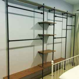 Easy diy pipe shelves ideas on a budget (15)