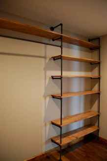 Easy diy pipe shelves ideas on a budget (7)