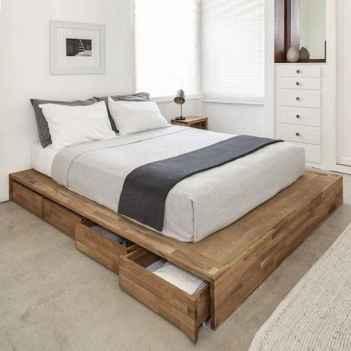 Elegant diy wooden platform bed design ideas (12)