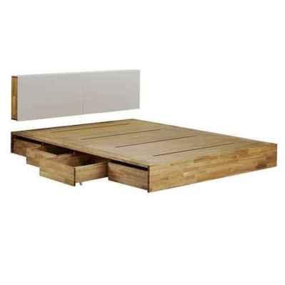 Elegant diy wooden platform bed design ideas (14)