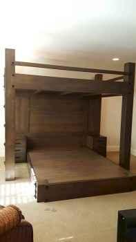 Elegant diy wooden platform bed design ideas (9)