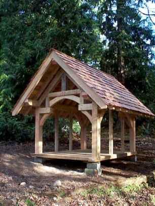 Incredible wood backyard pavilion design ideas outdoor (11)