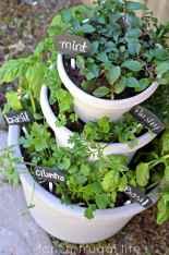 Adorable diy container herb garden design ideas (23)
