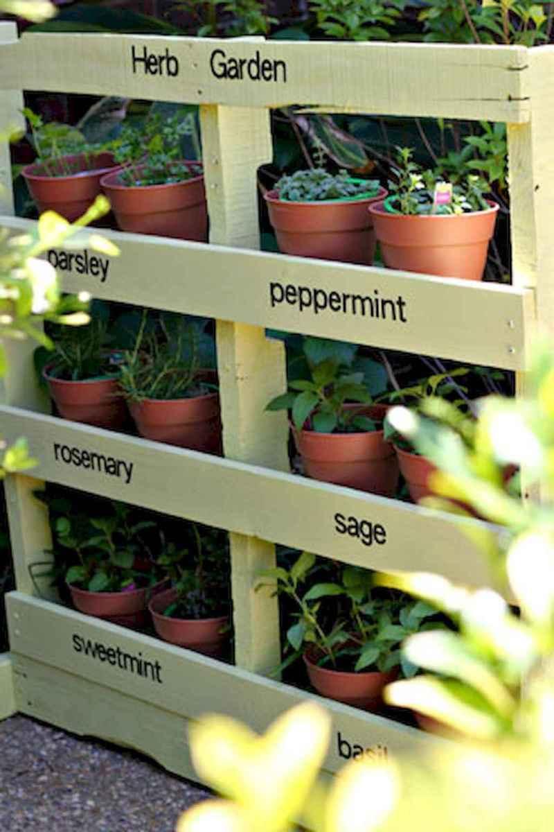 Adorable diy container herb garden design ideas (27)