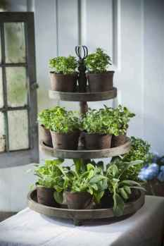 Adorable diy container herb garden design ideas (35)