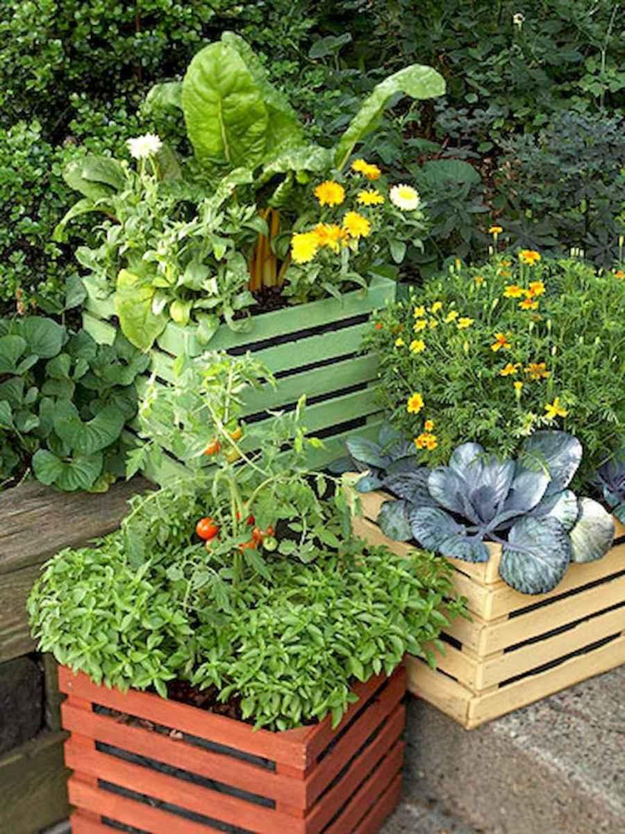 Adorable diy container herb garden design ideas (50)