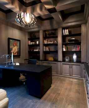 Simple home office decor ideas for men (18)