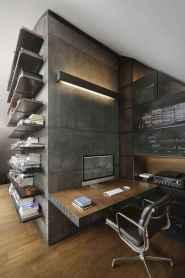 Simple home office decor ideas for men (25)