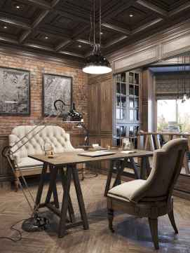 Simple home office decor ideas for men (33)