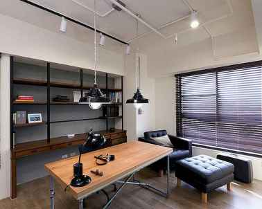 Simple home office decor ideas for men (48)