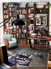 Simple home office decor ideas for men (50)