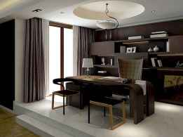 Simple home office decor ideas for men (66)