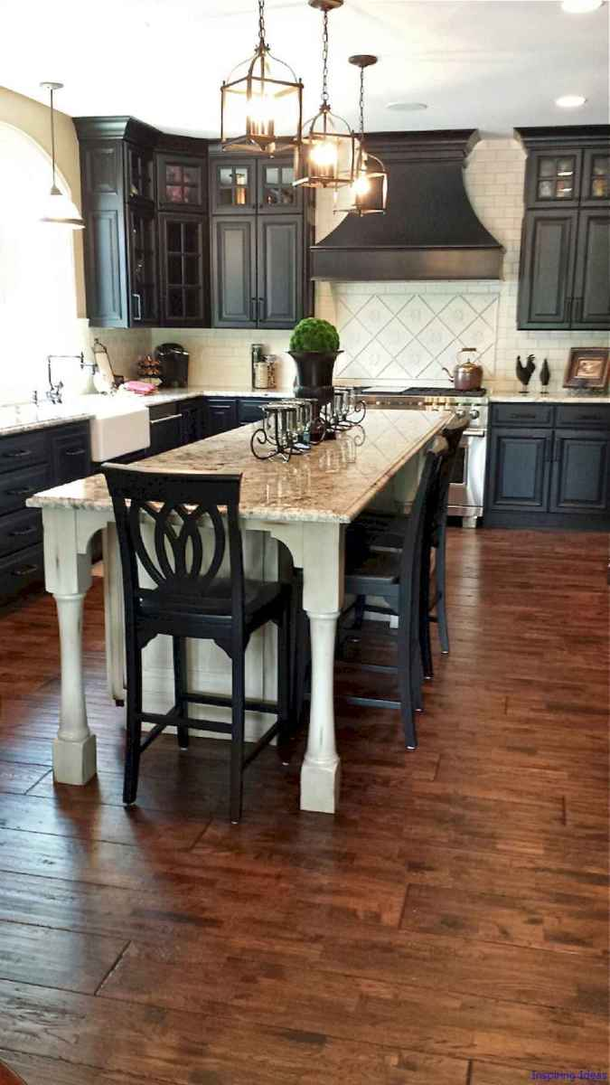 009 luxury black and white kitchen design ideas
