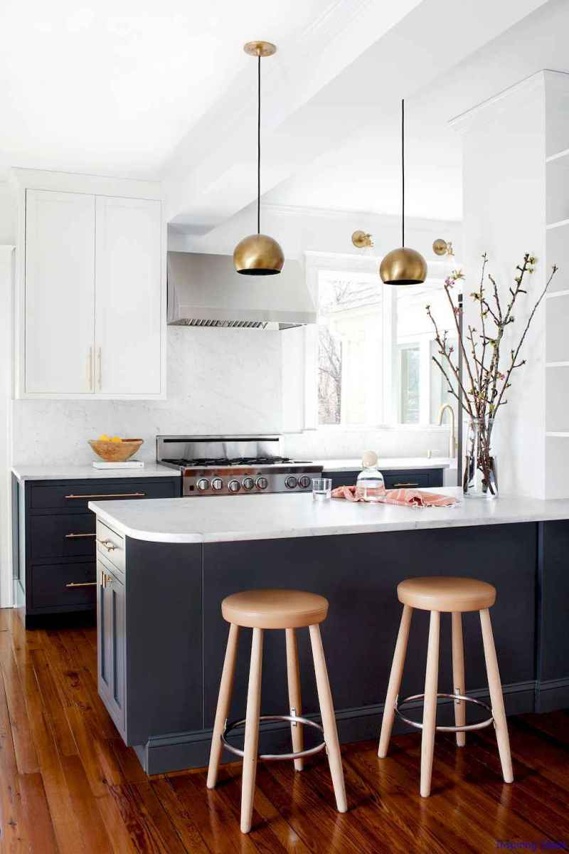 027 luxury black and white kitchen design ideas