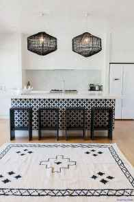 047 luxury black and white kitchen design ideas