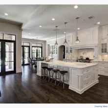 053 luxury black and white kitchen design ideas
