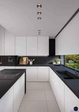 057 luxury black and white kitchen design ideas