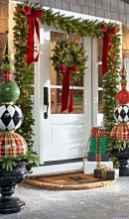 Beautiful 46 christmas porch decor ideas