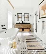 Minimalist modern farmhouse small bathroom decor ideas 1