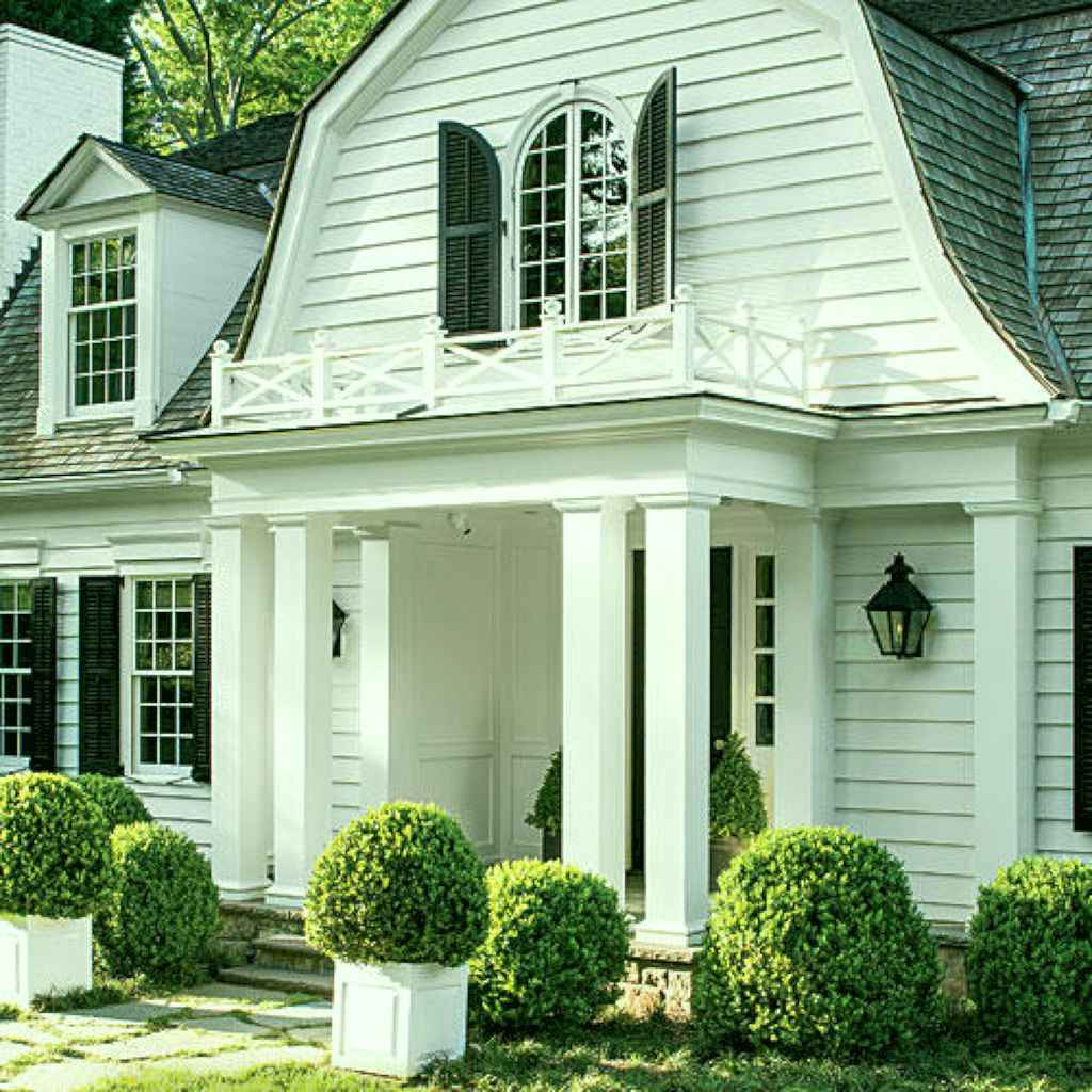 Traditional cape cod house exterior ideas 001